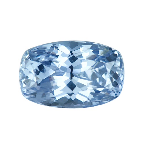 3.47 ct Cushion Light Blue Sapphire Certified Unheated