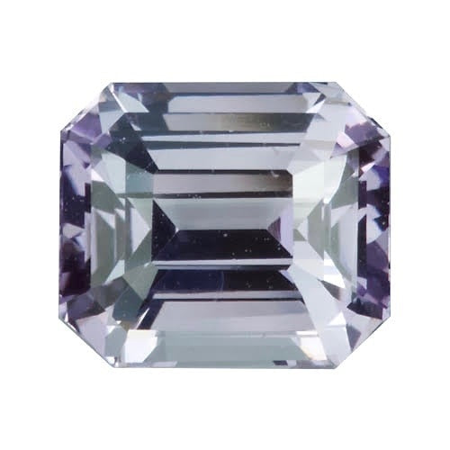 2.87 ct Emerald Cut Lilac Grey	Sapphire Certified Unheated