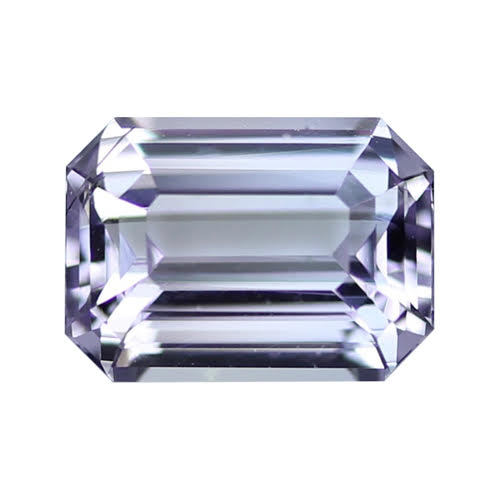 2.10 ct Lilac Emerald Cut Natural Unheated Sapphire
