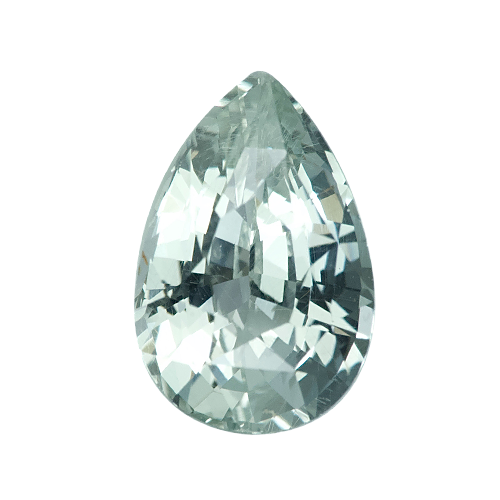 1.69 ct Pear Mint Green Sapphire Certified Unheated