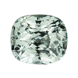 3.00 ct Cushion Mint Green Sapphire Natural Unheated