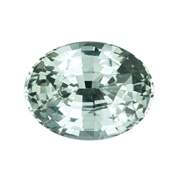 1.56 ct Oval Green Sapphire Natural Unheated Certified