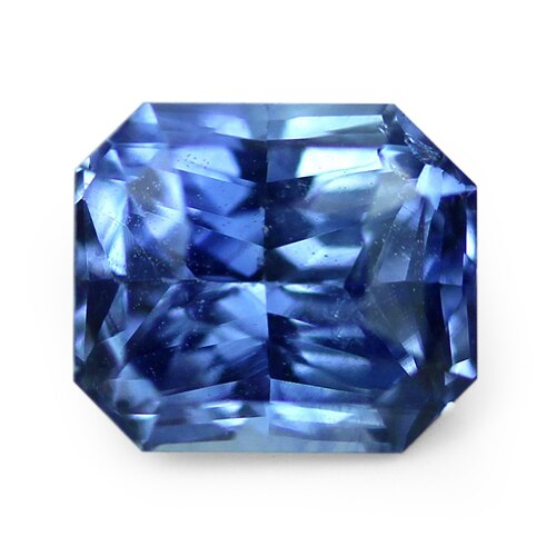 1.05 ct Blue Radiant Cut Natural Unheated Sapphire