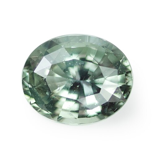 2.09 ct Olive Green Oval Cut Natural Unheated Sapphire