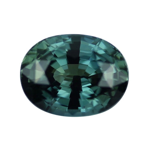 2.63 ct Blue Green Oval Cut Natural Unheated Sapphire