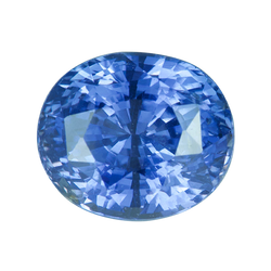 2.72 ct Oval Ceylon Blue Sapphire Certified Unheated