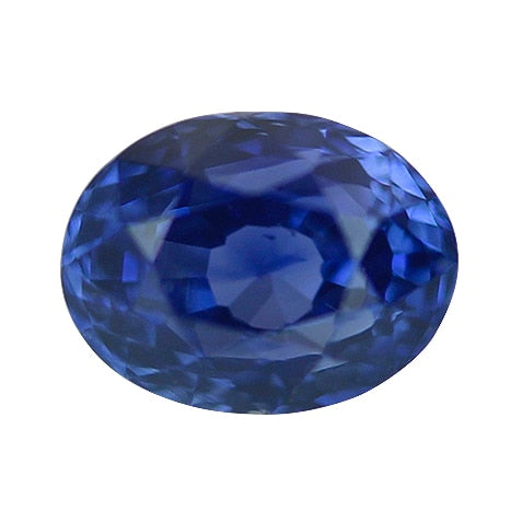 1.04 ct Vivid Deep Blue Oval Cut Natural Unheated Sapphire