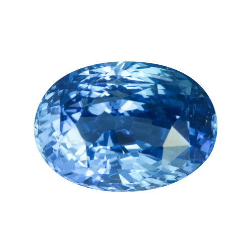 3.73 ct Oval Blue Cornflower Sapphire Natural Unheated
