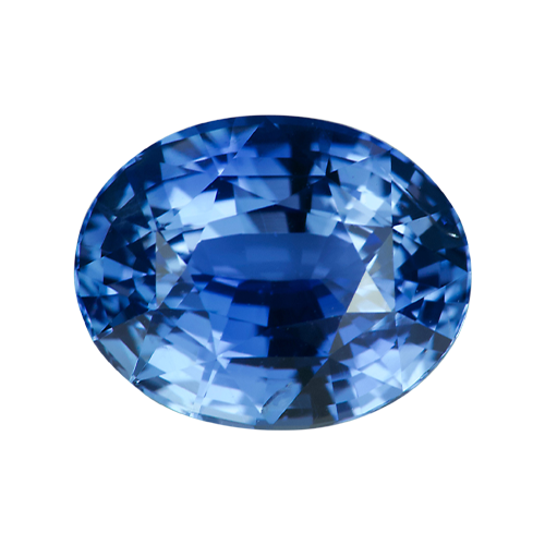 2.52 ct Medium Blue Oval Sapphire Natural Unheated