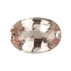 2.03 ct Oval Champagne Peach Sapphire Certified Unheated