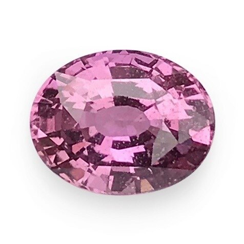 1.76 ct Dusky Pink Oval Cut Natural Unheated Sapphire