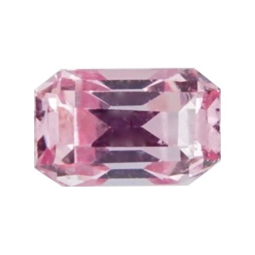 0.68 ct Padparadscha Emerald Cut Natural Ceylon Sapphire Certified Unheated