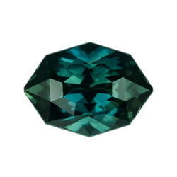 1.63 ct Fancy Mixed Cut Green Sapphire Certified Unheated
