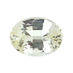 2.88 ct Oval Champagne Yellow Sapphire Certified Unheated