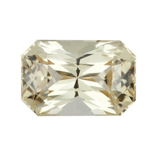 2.10 ct Radiant Cut Yellow Sapphire Certified Unheated