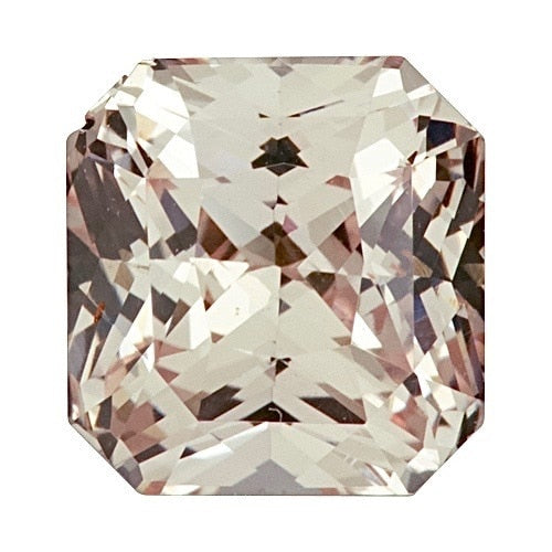 2.10 ct Carat Square Peach	Sapphire Certified Unheated