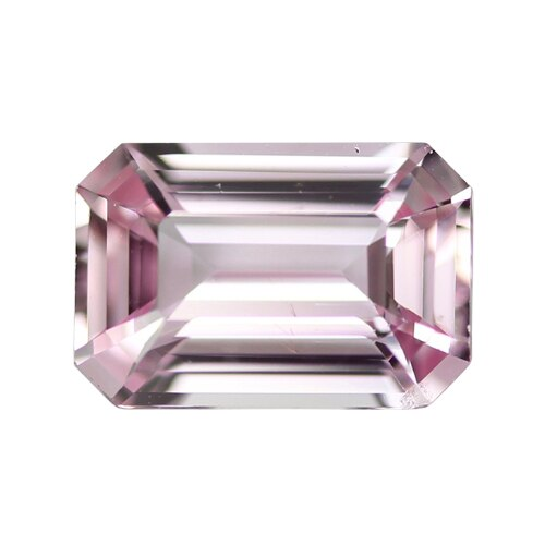 1.51	ct	Pastel Light Pink Emerald Cut Natural Unheated Sapphire