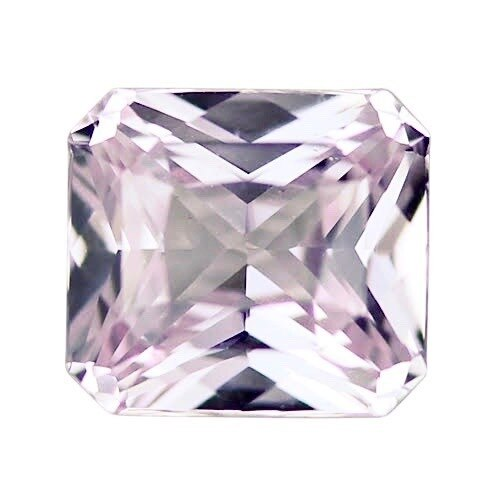 1.09 ct Light Peach Pink Radiant Cut Natural Unheated Sapphire