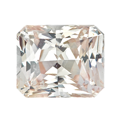 1.01 ct Pastel Peach Sapphire Certified Unheated