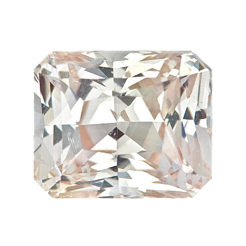 1.01 ct Radiant Cut Light Yellow Sapphire Certified Unheated