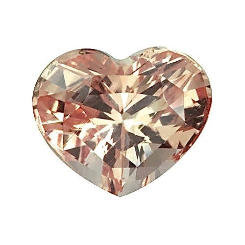 2.07 ct Heart Peach	Sapphire Certified Unheated