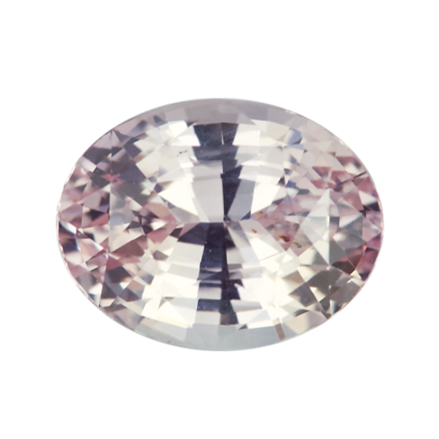 1.71 ct Peach Oval Sapphire Natural Unheated Certified