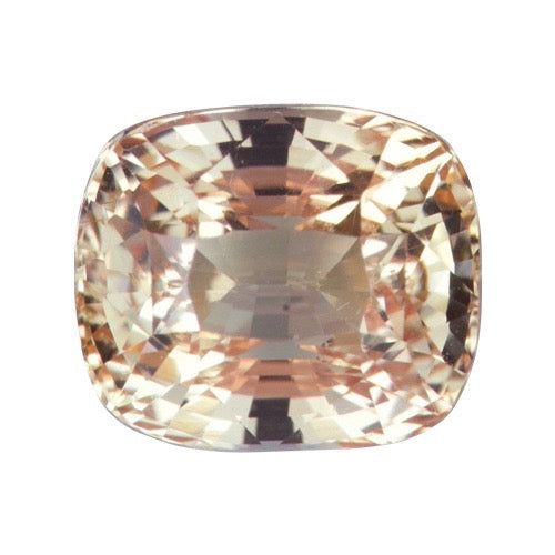 2.52 ct  Cushion Pinkish Orange Sapphire Certified Unheated