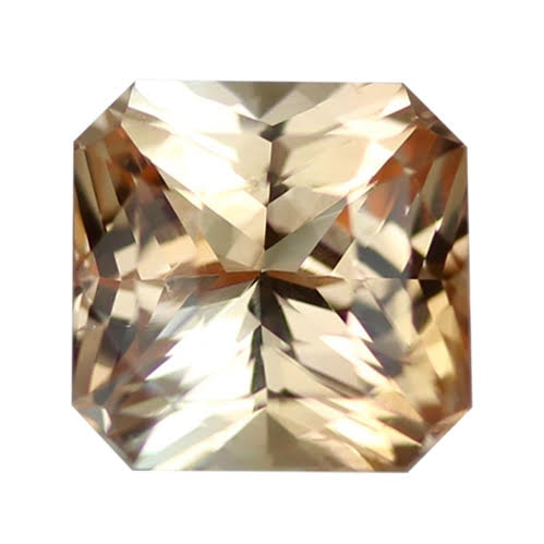 2.07 ct Square Peach Sapphire Certified Unheated - ON HOLD