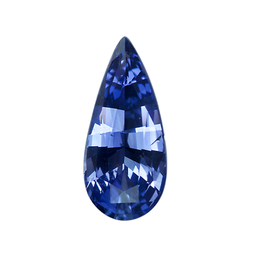 1.59 ct Vivid Blue Pear Sapphire Sri Lankan Unheated