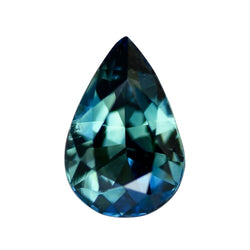 2.57 ct Pear Blue Green Sapphire Certified Unheated