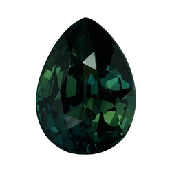 2.61 ct Pear Blue Green	Sapphire Certified Unheated
