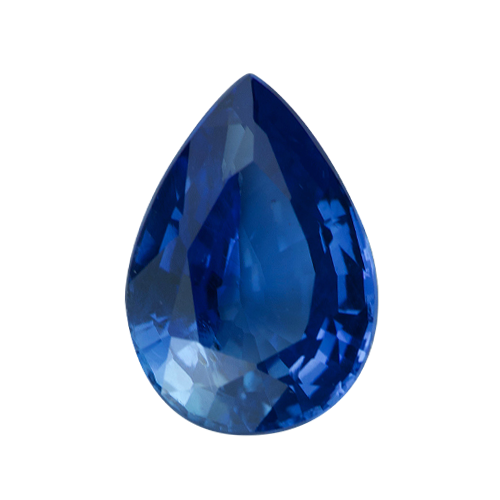 1.43 ct Vivid Blue Pear Cut Natural Certified Unheated Sapphire