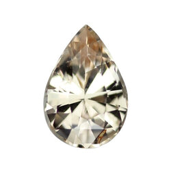 1.07 ct Champagne Peach Pear Sapphire Certified Unheated