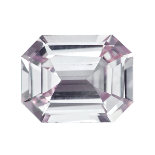 1.07 ct Emerald Cut Light Pastel Pink Sapphire Natural Unheated