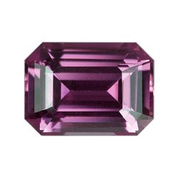 1.27 ct Emerald Cut Pink Sapphire Certified Unheated