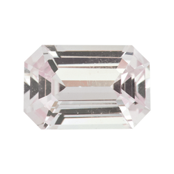 1.40 ct Emerald Cut Yellowish Pink Sapphire Certified Unheated