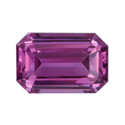 1.64 ct Emerald Cut Vivid Pink 	Sapphire Certified Unheated