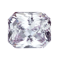 2.49 ct Radiant Cut Light Violetish Pink Sapphire Certified Unheated