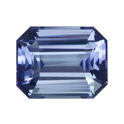 1.49 ct Emerald Cut Violet Sapphire Certified Unheated