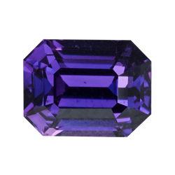 2.54 ct Purple Sapphire Emerald Cut Unheated Madagascar