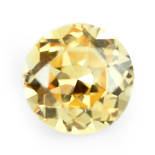 1.43 ct Peach Yellow Round Cut Natural Unheated Sapphire