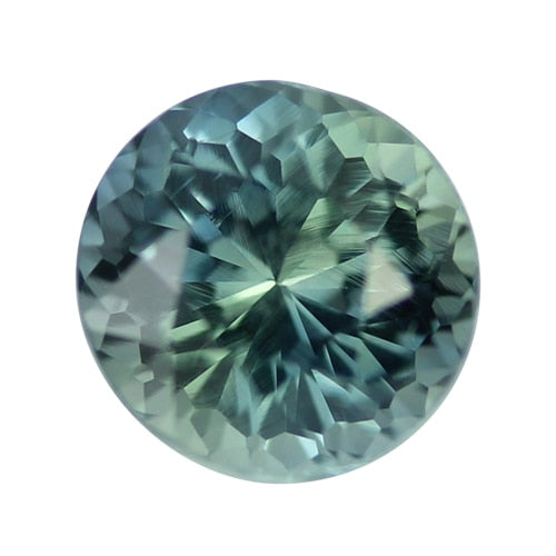 2.22 ct Round Blue Green Sapphire Certified Unheated