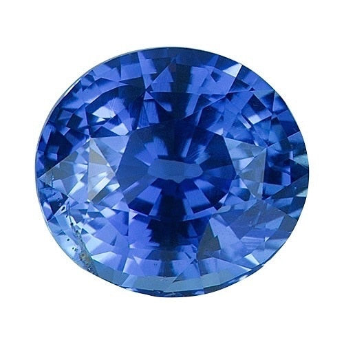 2.55 ct Round Cornflower Blue	Sapphire Certified Unheated
