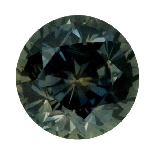 2.51 ct Round Green	Sapphire Certified Unheated