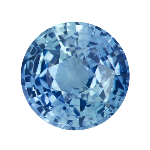 2.13 ct Round Blue Natural  Unheated Sapphire