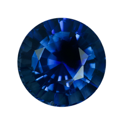 1.37 ct Round Blue Sapphire Certified Unheated