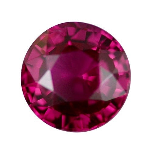 1.06 ct Reddish Pink Round Cut Natural Unheated Sapphire