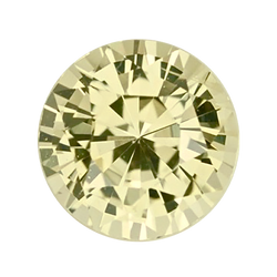 2.25 ct Yellow Round Sapphire Unheated Sri Lanka