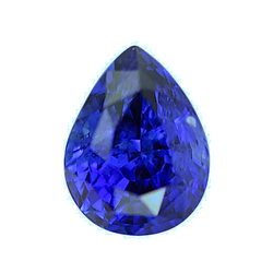1.93 ct Royal Blue Pear Sapphire Heated