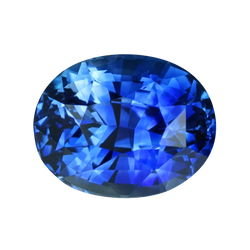 2.11 ct Royal Blue Sapphire Oval Cut Heated Ceylon